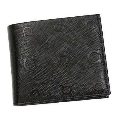 【新品】フェラガモ/Salvatore Ferragamo 二つ折り小銭入れ付メンズ財布・APOLLO アポロ 66-9296 NERO