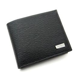 フェラガモ 二つ折り財布(メンズ) フェラガモ/Salvatore Ferragamo 二つ折り小銭入れ付メンズ財布 66-7070 NERO ブラック【即発送可能】