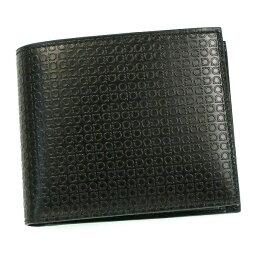フェラガモ 財布(メンズ) フェラガモ/Salvatore Ferragamo 二つ折り小銭入れ付メンズ財布・MINIGANCINO・66-9148 NERO ブラック