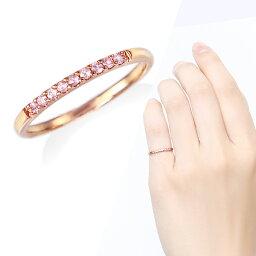ピンクゴールド 指輪 ポイント10倍キャンペーン 〜3/30(月)23:59までK10ピンクゴールドピンクサファイアリング(ピンキーリング)