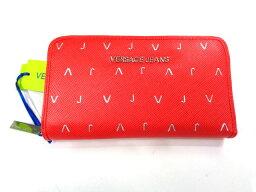 ヴェルサーチ 財布(レディース) 新品 ヴェルサーチ ラウンドファスナー長財布 スカーレット【あす楽対応_関東】
