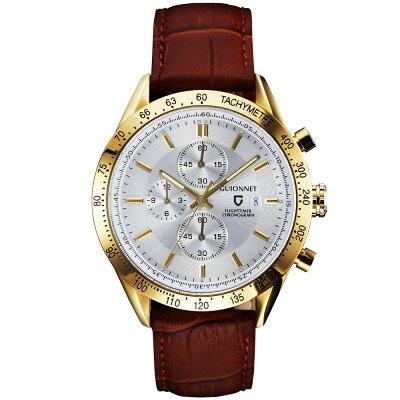 ギオネ GUIONNET フライトタイマー タキメータークロノグラフ メンズ 時計 腕時計 PG-FC42YSVBR を極めるレーシングクロノグラフ。この高級感、まさにエレガントスポーティーの頂点【ブランド】 とけい ウォッチ