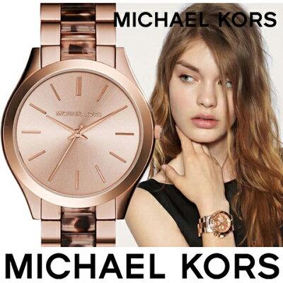 マイケルコース 時計 mIchael kors watch mIchael kors 時計 マイケルコース 腕時計 レディース MK4301 インポート 誕生日 ギフト プレゼント 彼女 べっ甲風 ピンクゴールド 海外取寄せ 送料無料