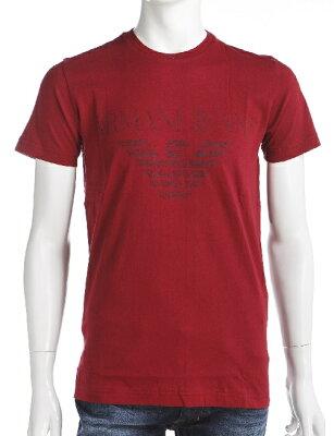 アルマーニ アルマーニジーンズ ARMANI JEANS Tシャツ 半袖 丸首 メンズ Z6H86 UL レッド 楽ギフ_包装 送料無料 アウトレット 【ラッキーシール対応】