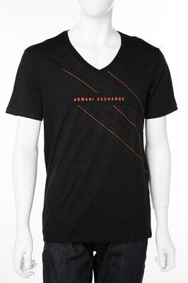 アルマーニ エクスチェンジ ARMANI EXCHANGE Tシャツ 半袖 Vネック メンズ 3GZTFW ZJN7Z ブラック 送料無料 楽ギフ_包装 【ラッキーシール対応】