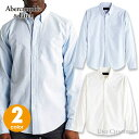 アバクロンビー&フィッチ メンズ ストレッチ素材 長袖ボタンダウン オックスフォードシャツ Abercrombie&Fitch Stretch Icon Oxford Shirt ワンポイントロゴ ライトブルー、ホワイト