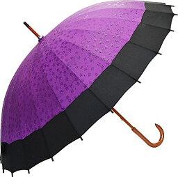 蛇の目 サントス 傘 60cm 桜が浮き出る蛇の目傘 京美咲 紫 JK-20