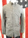 カルバンクライン ブラックシャンブレーシャツ 長袖 ckロゴワンポイント刺繍 キャッシュレス calvin klein アウトレット品 ブラック メンズ M XL 大きいサイズ 送料無料