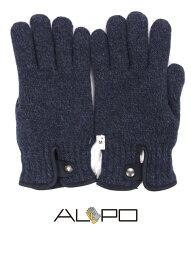 アルポ 手袋(メンズ) 【国内正規品】 ALPO アルポ ウールニットグローブ ネイビー 手袋 メンズ AP182UA SPW91 811