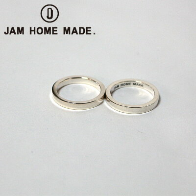 【JAM HOME MADE(ジャムホームメイド)】FLAT DOUBLE DIAMOND RING M -SILVER- -GOLD- リング 指輪