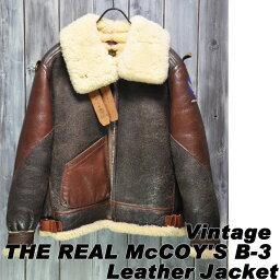 ザ・リアルマッコイズ 【ajito】Happyend ハッピーエンド THE REAL McCOY'S B-3 Leather Jacket ボア レザー ジャケット ザ リアルマッコイズ ブコ BUCO ビンテージ フライト ジャケット コート ヴィンテージ ブルゾン 本革 古着