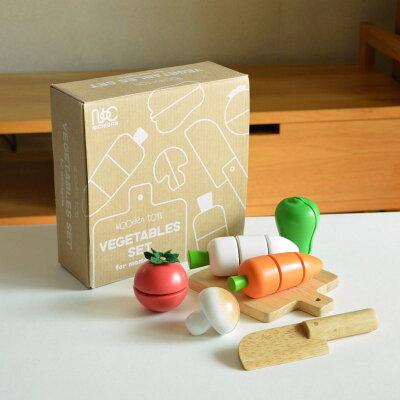 【送料無料(北海道、沖縄離島は除く)】CS12ベジタブルセット ニチガン VEGETABLES SET for mamagoto 木製玩具ままごと
