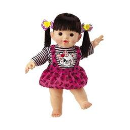 ポポちゃん やわらかお肌のロングヘアぽぽちゃん 2色のペアリボン ピープル 着せ替え人形 ポポちゃん 知育玩具 ままごと 女の子