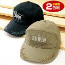 エドウイン EDWIN つば刺しゅう入りワイドキャップ2色組 【エドウィン 帽子 メンズ 】【送料無料】
