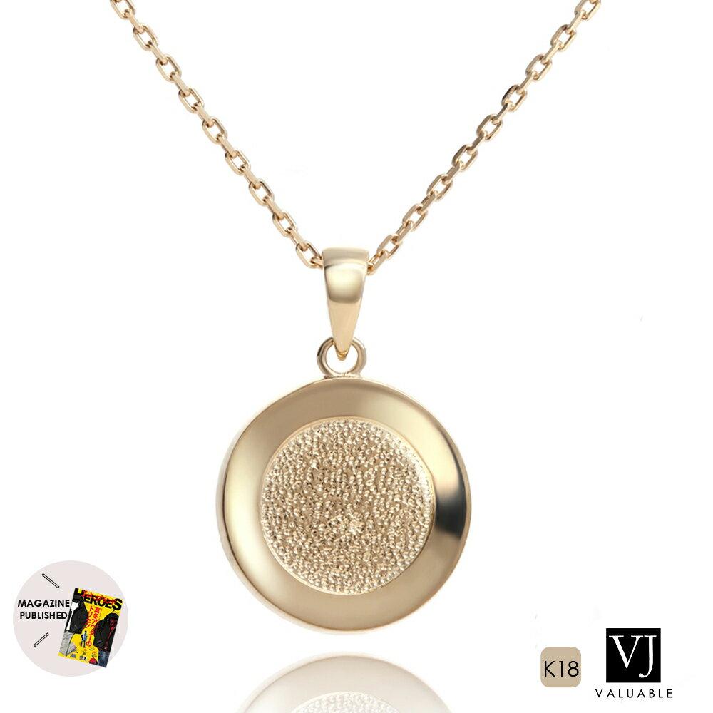 【ファッション誌に掲載】VJ【ブイジェイ】 K18 イエローゴールド メンズ テクスチャー コイン