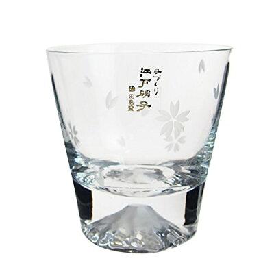 田島硝子 富士山 ロックグラス 桜富士 TG16-015-RS (桜風呂敷包み) ラッピング不可