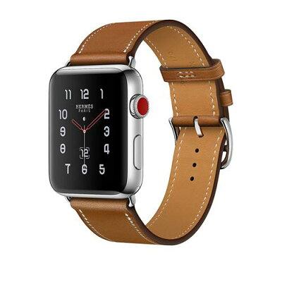 Apple Watch Hermes ステンレススチールケースとヴォー・バレニア(フォーヴ)シンプルトゥールレザーストラップ (38mm) Series3 アップルウォッチ エルメス 本体 シリーズ3 MQMP2J/A MQMP2JA