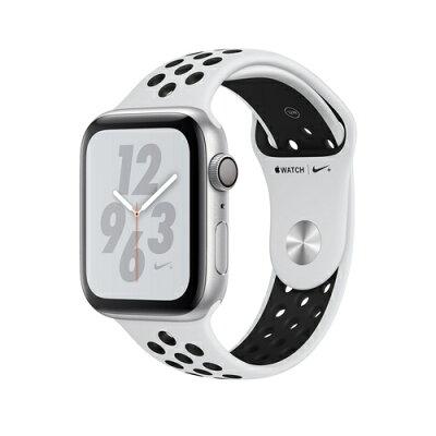 【当店全品エントリーでポイント10倍】Apple Watch Nike+ Series 4(GPS)44mm シルバーアルミニウムケースとピュアプラチナム/ブラックNikeスポーツバンド [アップルウォッチ シリーズ4]MU6K2J/A MU6K2JA