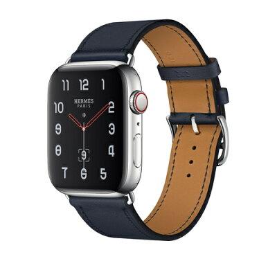 Apple Watch Hermes Series 4(GPS + Cellular)44mm ステンレススチールケースとヴォー・スウィフト(ブルーインディゴ)シンプルトゥールレザーストラップ[アップルウォッチ エルメス シリーズ4]MU772J/A MU772JA