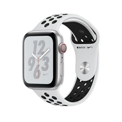 Apple Watch Nike+ Series 4(GPS + Cellular)44mm シルバーアルミニウムケースとピュアプラチナム/ブラックNikeスポーツバンド [アップルウォッチ ナイキ シリーズ4] MTXK2J/A MTXK2JA