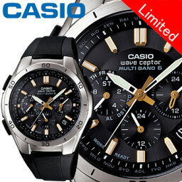 ウェーブセプター カシオ ウェーブセプター M410 クロノグラフ メンズ ブラック (通販限定モデル) 樹脂バンド マルチバンド6 ソーラー電波時計