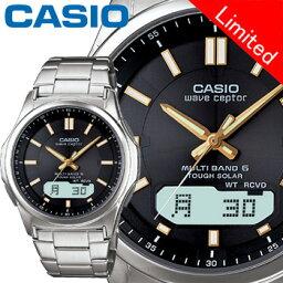 ウェーブセプター カシオ ウェーブセプター M630D メンズ ブラック (通販限定モデル) ステンレスバンド マルチバンド6 ソーラー電波時計 CASIO Wave Ceptor
