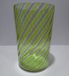 ベネチアガラス グラス クラッシーヴェネチアンガラス ベネチアン 棒グラス コップ リネア ライトグリーン 贈り物 御祝
