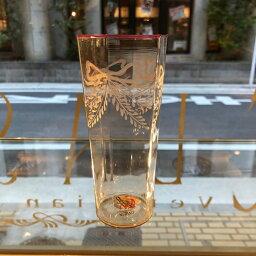 ベネチアガラス グラス クラッシーヴェネチアンガラス ベネチアン グラス コップ 6角フーメグラスリボングラービング