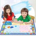 VeroMa 子供 お絵かき シート 水で描く 知育おもちゃ ぬりえ 水ペン 型板付き プレゼント ブルー