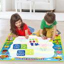 VeroMa 子供 お絵かき シート 水で描く 知育おもちゃ ぬりえ 水ペン 型板付き プレゼント グリーン