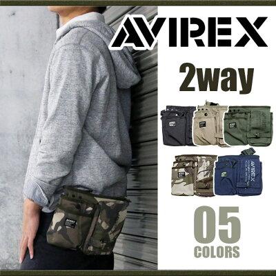 [ポイント5倍] アヴィレックス AVIREX ウエストバッグ EAGLE アビレックス イーグル ミリタリー ブランド ショルダーバッグ ウエストポーチ ヒップバッグ ヒップバック 2way メンズ レディース AVX342L