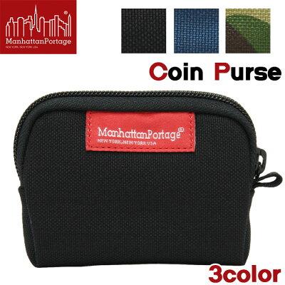 【正規品】 マンハッタンポーテージ ManhattanPortage Coin Purse コインパース 小銭入れ 財布 メンズ レディース 男女兼用 ブラック ネイビー カモフラ MP1008