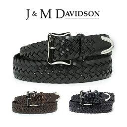 ジェイ&エム デヴィッドソン J&M DAVIDSON ベルト 30mm メッシュ レザー メンズ J&Mデヴィッドソン ベルト ブラック ブラウン ジェイアンドエムデヴィッドソン ギフト 【送料無料】 【あす楽対応】