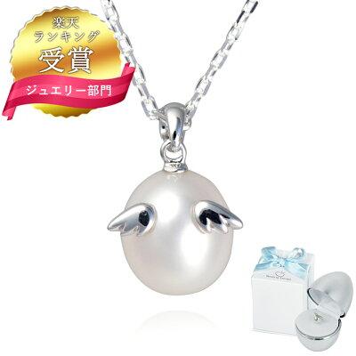 【送料無料】Tenshi no Tamago 天使の卵 天然パールネックレス レディース ペンダント シルバー ロジウム加工 全3サイズ 本真珠 天使 862PLRM シンプル 人気 ギフト 誕生日 女性 彼女 プレゼント 誕生日プレゼント