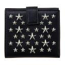 ジミーチュウ 二つ折り財布 レディース ジミーチュウ JIMMY CHOO 二つ折り財布 レディース 星柄 レザー