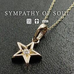 チョーカー シンパシーオブソウル ネックレス Shine Star Charm Necklace K10 YG w/Diamond レディース sympathy of soul ペンダント チョーカー アクセサリー【送料無料】