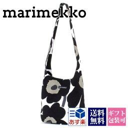 マリメッコ マリメッコ marimekko 花柄 ショルダーバッグ バッグ 鞄 かばん コットン キャンバス 旅行バッグ ウニッコ ホワイト(白) ブラック(黒) レディース クローバー CLOVER WHITE BLACK 042630-030 正規品 ブランド 新品 新作 2020年 プレゼント