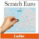 scratch map  ( あす楽 ) ヨーロッパ 地図 海外製 絵 ポスター A2 サイズ MAP スクラッチ マップ ユーロ【 Luckies / ラッキーズ 】scratch map euro 世界地図 おしゃれ ポスター イギリス トラベル 旅行 / WakuWaku