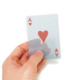 マイクロドッツトランスパレント  【 メール便 】 トランプ プラスチック カード おしゃれ マイクロ ドッツ トランスパレント カード かわいい 透ける 透明 micro dots transparent card / WakuWaku
