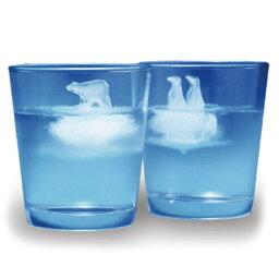 ポーラーアイス おもしろ 氷 アイストレー 製氷皿 ロックアイス 人気 アイストレー ポーラーアイス 【 monos / モノス 】 Polar Ice シリコン 氷山 シロクマ ペンギン 丸い プレゼント / WakuWaku