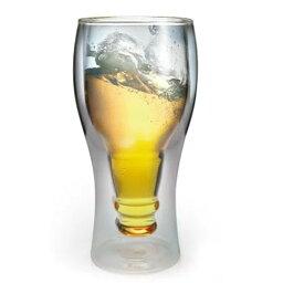 おもしろビアジョッキ ビールジョッキ Beer ビール グラス 冷たい 二重構造 ビアジョッキ ダブルレイヤーグラス Double Layer GLASS ワイングラス ワイン 好き 乾杯 ビール瓶 / WakuWaku