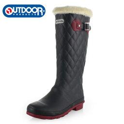 アウトドアプロダクツ  OUTDOOR PRODUCTS アウトドアプロダクツ レディース 長靴 ODB 0580-CH レインブーツ ラバーブーツ 軽量 あったか ブラック 058