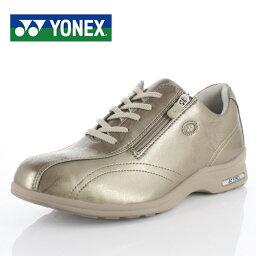 ヨネックス ヨネックス パワークッション レディース ウォーキングシューズ YONEX SHW-LC30 パール グレージュ スニーカー 軽量 女性用 靴 幅広 3.5E ゴールド