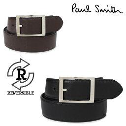 ポールスミス ベルト(メンズ) Paul Smith LEATHER BELT ポールスミス ベルト レザーベルト メンズ 本革 リバーシブル ブラック ブラウン 黒 M1A 4437 ACUT