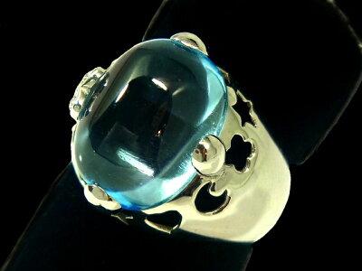 【New Finish】 ポンテヴェキオ - Ponte Vecchio - トパーズ+ダイヤ リング WG 無垢 ホワイトゴールド / トパーズ (10.28ct) / ダイヤモンド (0.03ct) 指輪 【Luxury Brand Selection】