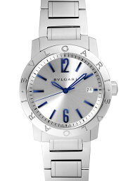 ソロテンポ 腕時計(メンズ) 【新品】ブルガリ BB39C6SSD ブルガリブルガリ ソロテンポ SSブレス 自動巻き シルバー ブルーインデックス シースルーバック