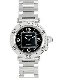 カルティエ パシャ 腕時計(メンズ) 【新品】カルティエ メンズ W31077M7 パシャ シータイマー SS 自動巻き ブラック 《ダイバーズウォッチ》