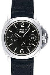 ルミノール 腕時計(メンズ) 【新品】パネライ PAM00090 ルミノールパワーリザーブ SS/レザー 自動巻き 44ミリ