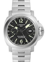 ルミノール 腕時計(メンズ) 【新品】パネライ PAM00297 ルミノールGMT SSブレス 44mm 自動巻き ブラック