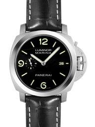 ルミノール 腕時計(メンズ) 【新品】パネライ PAM00312 ルミノール1950マリーナ スリーデイズ(3days) SS/レザー 44mm 自動巻き シースルーバック